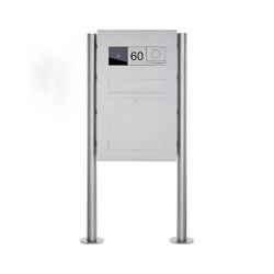 Designer | Edelstahl Standbriefkasten Designer BIG - GIRA System 106 - Video- Sprechanlage - VIDEO Komplettset | Mailboxes | Briefkasten Manufaktur