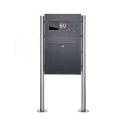 Designer | Edelstahl Standbriefkasten Designer BIG - RAL nach Wahl - GIRA System 106 - VIDEO Komplettset RAL 7016 anthrazitgrau feinstruktur matt | Mailboxes | Briefkasten Manufaktur
