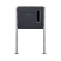 Designer | Edelstahl Standbriefkasten Designer BIG ST-R - GIRA System 106 seitlich - 3-fach vorbereitet - RAL Rechts | Mailboxes | Briefkasten Manufaktur
