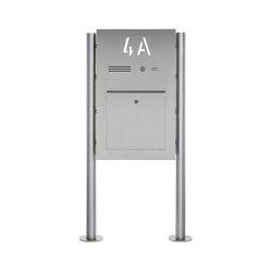 Designer | Edelstahl Standbriefkasten Designer BIG ST-R - Hausnummer hinterbeleuchtet - INDIVIDUELL | Mailboxes | Briefkasten Manufaktur