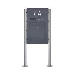 Designer | Edelstahl Standbriefkasten Designer BIG ST-R - Hausnummer hinterbeleuchtet - RAL Farbe - INDIVIDUELL | Mailboxes | Briefkasten Manufaktur