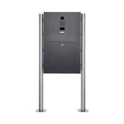 Designer | Edelstahl Standbriefkasten Designer BIG ST-R mit DoorBird Video- Sprechanlage - RAL Farbe | Mailboxes | Briefkasten Manufaktur