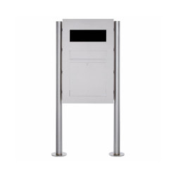 Designer | Edelstahl Standbriefkasten Designer Modell BIG - GIRA System 106 - 3-fach vorbereitet | Mailboxes | Briefkasten Manufaktur