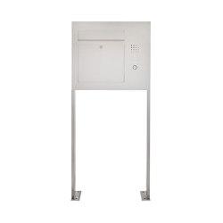 Designer | Edelstahl Standbriefkasten Designer Modell BIG ST-P - Clean Edition - Seitlich - INDIVIDUELL Rechts | Mailboxes | Briefkasten Manufaktur