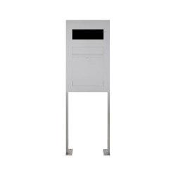Designer | Edelstahl Standbriefkasten Designer Modell BIG ST-P - GIRA System 106 - 3-fach vorbereitet | Mailboxes | Briefkasten Manufaktur