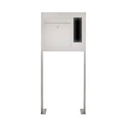 Designer | Edelstahl Standbriefkasten Designer Modell BIG ST-P - GIRA System 106 seitlich - 3-fach vorbereitet Rechts | Mailboxes | Briefkasten Manufaktur