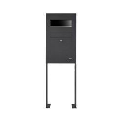 Designer | Edelstahl Standbriefkasten Designer Modell BIG ST-P - RAL - GIRA System 106 - 3-fach vorbereitet RAL 7016 anthrazitgrau feinstruktur matt | Mailboxes | Briefkasten Manufaktur