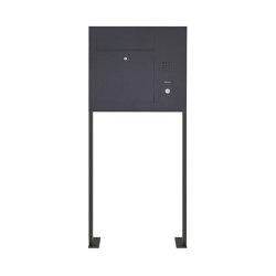 Designer | Edelstahl Standbriefkasten Designer Modell BIG ST-P - Seitlich - RAL nach Wahl - INDIVIDUELL Rechts | Mailboxes | Briefkasten Manufaktur