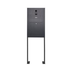 Designer | Edelstahl Standbriefkasten Designer Modell BIG ST-P mit DoorBird Video- Sprechanlage - RAL nach Wahl | Mailboxes | Briefkasten Manufaktur