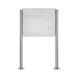 Designer | Edelstahl Standbriefkasten Designer Modell BIG ST-R - Clean Edition - Seitlich - INDIVIDUELL Rechts | Mailboxes | Briefkasten Manufaktur