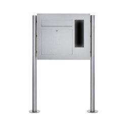Designer | Edelstahl Standbriefkasten Designer Modell BIG ST-R - GIRA System 106 seitlich - 3-fach vorbereitet Rechts | Mailboxes | Briefkasten Manufaktur