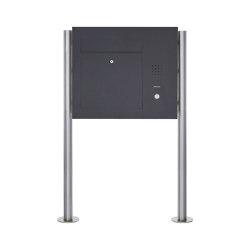 Designer | Edelstahl Standbriefkasten Designer Modell BIG ST-R - Seitlich - RAL nach Wahl - INDIVIDUELL Rechts | Mailboxes | Briefkasten Manufaktur