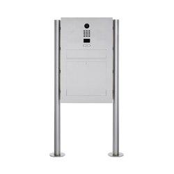 Designer | Edelstahl Standbriefkasten Designer Modell BIG ST-R mit DoorBird Video- Sprechanlage | Mailboxes | Briefkasten Manufaktur