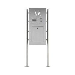 Designer | Edelstahl Standbriefkasten Designer ST-R - Hausnummer hinterbeleuchtet - INDIVIDUELL | Mailboxes | Briefkasten Manufaktur