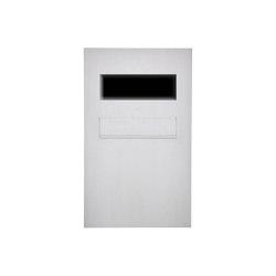 Designer | Edelstahl Zaunbriefkasten Designer BIG - Entnahme hinten - GIRA System 106 - 3-fach vorbereitet | Mailboxes | Briefkasten Manufaktur