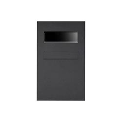 Designer | Edelstahl Zaunbriefkasten Designer BIG - RAL nach Wahl - GIRA System 106 - 3-fach vorbereitet RAL 7016 anthrazitgrau feinstruktur matt | Mailboxes | Briefkasten Manufaktur