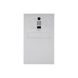 Designer | Edelstahl Zaunbriefkasten Designer Modell BIG mit DoorBird Video- Sprechanlage | Mailboxes | Briefkasten Manufaktur