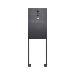 Designer | Edelstahl Zaunbriefkasten Designer Modell BIG ST-P mit DoorBird Video- Sprechanlage - RAL nach Wahl | Mailboxes | Briefkasten Manufaktur