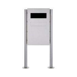 Designer | Edelstahl Zaunbriefkasten freistehend Designer Modell BIG - GIRA System 106 - 3-fach vorbereitet | Mailboxes | Briefkasten Manufaktur