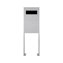 Designer | Edelstahl Zaunbriefkasten freistehend Designer Modell BIG ST-P - GIRA System 106 - 3fach vorbereitet | Mailboxes | Briefkasten Manufaktur