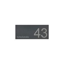 Designer | Schild DESIGNER 390A 350x150 - RAL nach Wahl - Hausnummer - Beschriftung | House numbers / letters | Briefkasten Manufaktur