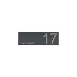Designer | Schild DESIGNER 390A 450x150 - RAL nach Wahl - Hausnummer - Beschriftung | House numbers / letters | Briefkasten Manufaktur