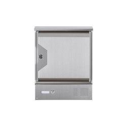 Hesse | Edelstahl Wandbriefkasten HESSE 151A mit Klingel-Funktionskasten und Zeitungsfach | Mailboxes | Briefkasten Manufaktur