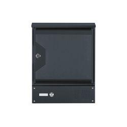 Hesse | Wandbriefkasten HESSE 151AR pulverbeschichtet mit Klingelkasten und Zeitungsfach RAL 7016 anthrazitgrau feinstruktur matt | Mailboxes | Briefkasten Manufaktur