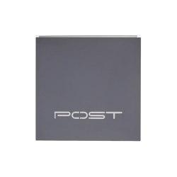 "Kästner | Edelstahl Design Briefkasten KÄSTNER - Design Linie ""POST"" in Anthrazit | Mailboxes | Briefkasten Manufaktur"