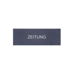 Kästner | Zeitungsfach KÄSTNER 228ZF aus Edelstahl V2A, geschliffen mit Blende in RAL Farbe | Mailboxes | Briefkasten Manufaktur