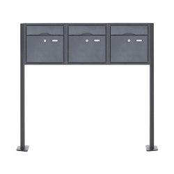Premium | 3er 1x3 Standbriefkasten PREMIUM BIG ST-T pulverbeschichtet in RAL nach Wahl RAL 7016 anthrazitgrau feinstruktur matt | Mailboxes | Briefkasten Manufaktur