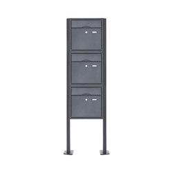 Premium | 3er 3x1 Standbriefkasten PREMIUM BIG ST-T pulverbeschichtet in RAL nach Wahl RAL 7016 anthrazitgrau feinstruktur matt | Mailboxes | Briefkasten Manufaktur