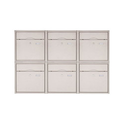 Premium | 6er 2x3 Aufputz Briefkastenanlage PREMIUM BIG aus Edelstahl gebürstet | Mailboxes | Briefkasten Manufaktur