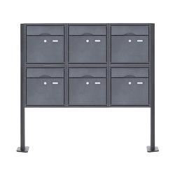 Premium | 6er 2x3 Standbriefkasten PREMIUM BIG ST-T pulverbeschichtet in RAL nach Wahl RAL 7016 anthrazitgrau feinstruktur matt | Mailboxes | Briefkasten Manufaktur