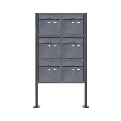 Premium | 6er 3x2 Standbriefkasten PREMIUM BIG ST-T pulverbeschichtet in RAL nach Wahl RAL 7016 anthrazitgrau feinstruktur matt | Mailboxes | Briefkasten Manufaktur