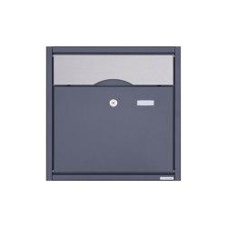 Premium | Aufputz Briefkasten PREMIUM BIG AP aus Edelstahl pulverbeschichtet in RAL - Edelstahl Einwurfklappe | Mailboxes | Briefkasten Manufaktur