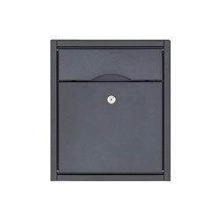 Premium | Aufputz Briefkasten PREMIUM SMALL AP aus Edelstahl, pulverbeschichtet in RAL ohne Zeitungsfach, rückseitig | Mailboxes | Briefkasten Manufaktur