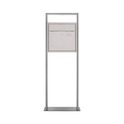 Premium | Design Standbriefkasten PREMIUM BIG LIBERTE aus Edelstahl - Standelement Alu pulverbeschichtet | Mailboxes | Briefkasten Manufaktur