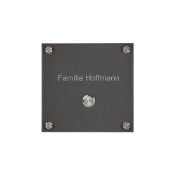 Premium | Edelstahl Klingelplatte PREMIUM 170x170 - RAL 7016 Anthrazitgrau | Door bells | Briefkasten Manufaktur