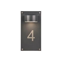 Premium | LED Wandstrahler - Wandleuchte PREMIUM 170x330 mit Hausnummer - RAL 7016 Anthrazitgrau | House numbers / letters | Briefkasten Manufaktur