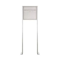Premium | Standbriefkasten PREMIUM BIG ST-P aus Edelstahl gebürstet | Mailboxes | Briefkasten Manufaktur