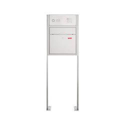 Premium | Standbriefkasten PREMIUM BIG ST-P mit Klingelkasten aus Edelstahl gebürstet | Mailboxes | Briefkasten Manufaktur