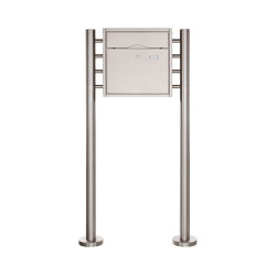 Premium | Standbriefkasten PREMIUM BIG ST-R aus Edelstahl gebürstet | Mailboxes | Briefkasten Manufaktur