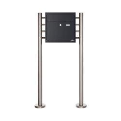 Premium | Standbriefkasten PREMIUM BIG ST-R aus Edelstahl pulverbeschichtet in RAL nach Wahl | Mailboxes | Briefkasten Manufaktur