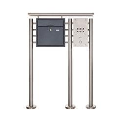 Premium | Standbriefkasten PREMIUM BIG ST-R3 aus Edelstahl pulverbeschichtet mit Klingeltableau und Regendach Rechts | Mailboxes | Briefkasten Manufaktur