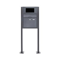 Premium | Standbriefkasten PREMIUM BIG ST-T pulverbeschichtet - GIRA System 106 - 2-fach vorbereitet RAL 7016 anthrazitgrau feinstruktur matt | Mailboxes | Briefkasten Manufaktur