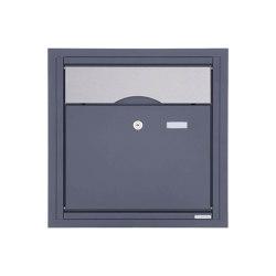Premium | Unterputzbriefkasten PREMIUM BIG UP aus Edelstahl pulverbeschichtet in RAL - Edelstahl Einwurf | Mailboxes | Briefkasten Manufaktur
