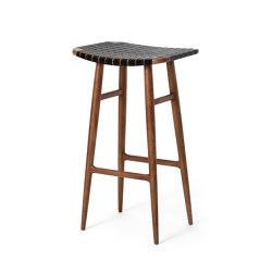 Freja Bar Stool SH750 Leather Stripe Seat | Bar stools | Stellar Works