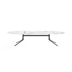 Blink Oval Coffee Table - Stone Top | Couchtische | Stellar Works