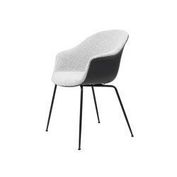 Bat Dining Chair - Front Upholstered, Conic base | Chairs | GUBI